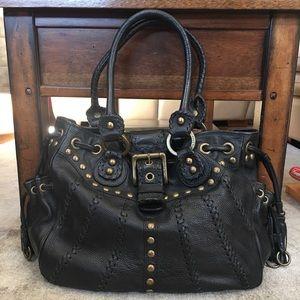 Isabella Fiore black leather bag.